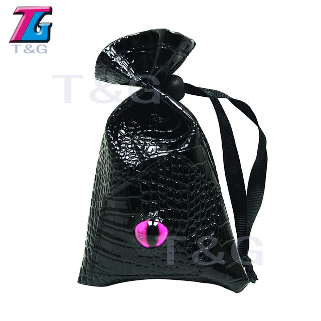 Great Dragon Eye Drawstring Leather Dice Bag