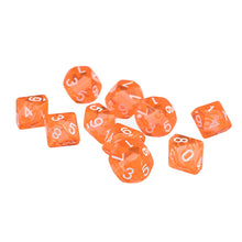 Load image into Gallery viewer, 10 Sided Gem Dice Set of 10 Dice