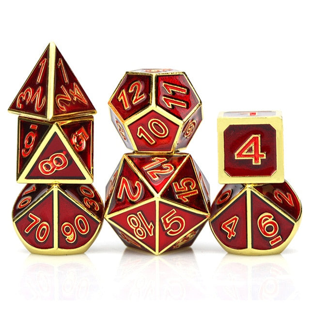 Druid's Call 7pc DnD Metal Dice Set