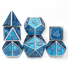 Load image into Gallery viewer, Druid's Call 7pc DnD Metal Dice Set