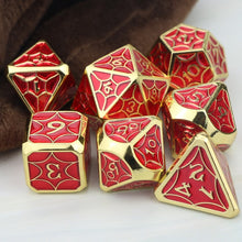 Load image into Gallery viewer, Bardic Inspiration 7pc Metal DnD Dice Set
