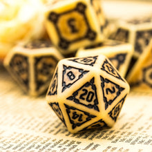 Load image into Gallery viewer, Lord of Bones 7 Pcs Giant  25mm Dice Set with Wooden Box