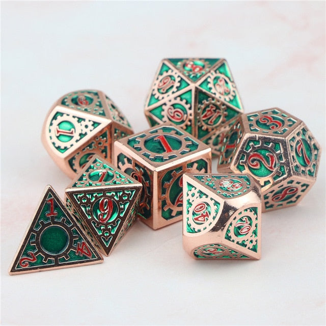 Crit Maker 7pc DnD Metal Dice Set