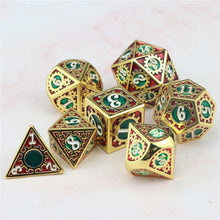 Load image into Gallery viewer, Crit Maker 7pc DnD Metal Dice Set