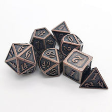 Load image into Gallery viewer, Warforged's Will 7pc DnD Metal Dice Set
