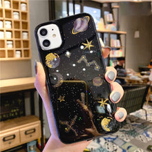 Load image into Gallery viewer, Glitter Planet Ultra Thin Phone Case For iPhone 12 11