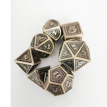Load image into Gallery viewer, Divine Smite 7pc DnD Metal Dice Set