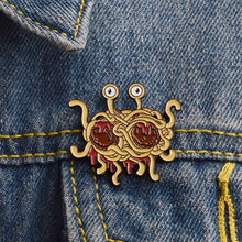 Load image into Gallery viewer, Flying Spaghetti Monster Brooch
