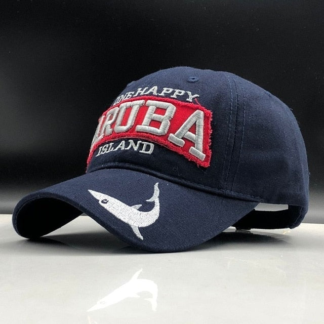 Happy Aruba Island 100%cotton Men Baseball Cap