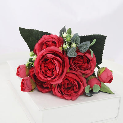 1 Bouquet 9 heads Artificial Flowers - Youdreamwebring