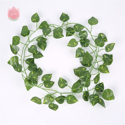 1Pcs 230Cm Green Silk Artificial Hanging Leaf Garland - Youdreamwebring