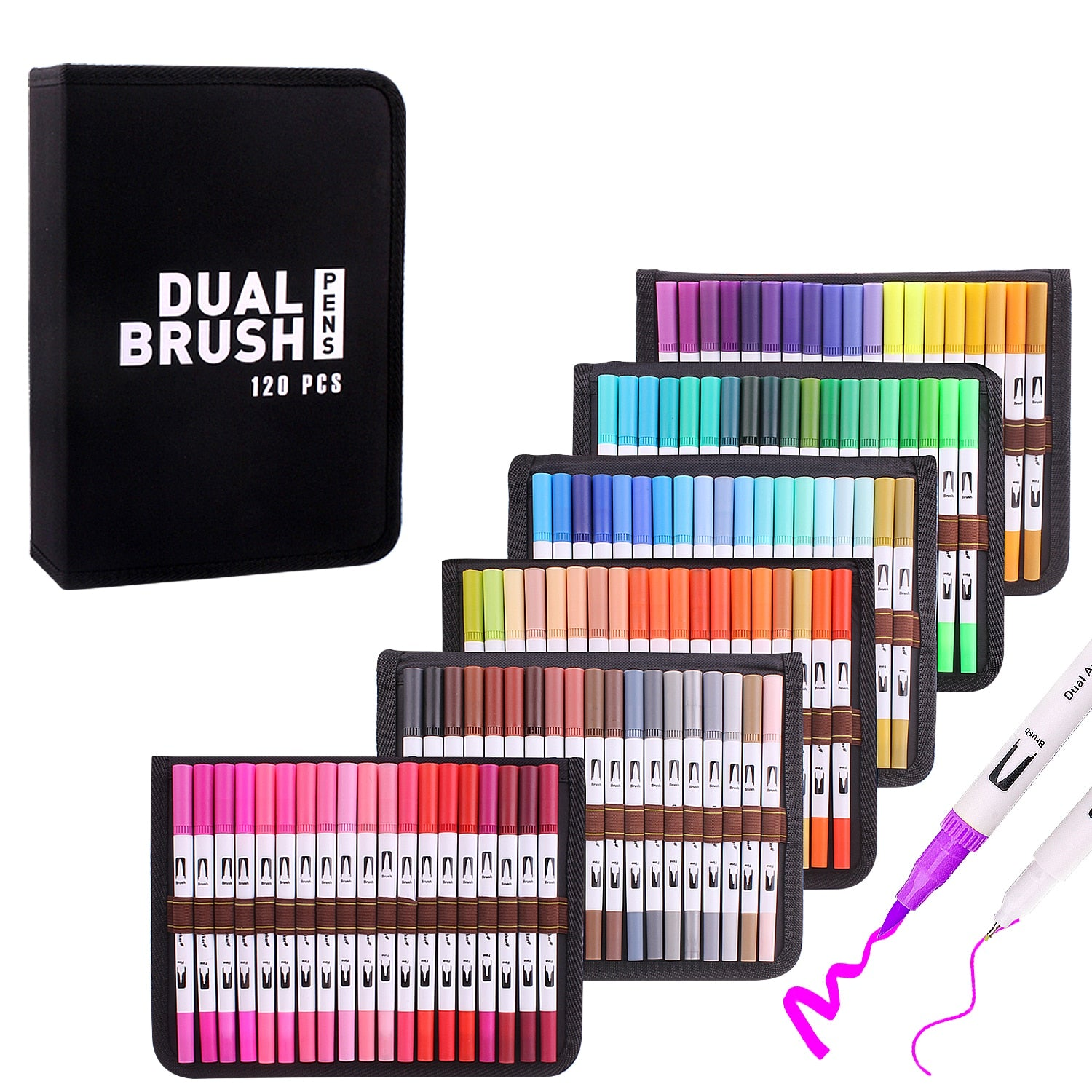 WaterColor Pens 12-120 Dual Tip Brush - Youdreamwebring