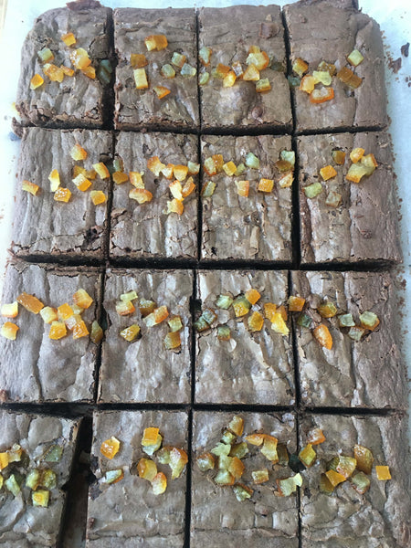 Chocolate Orange Gluten Free Brownie