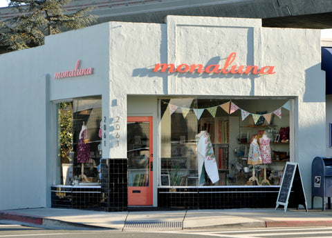 Monaluna storefront on Mt. Diablo Blvd in Walnut Creek