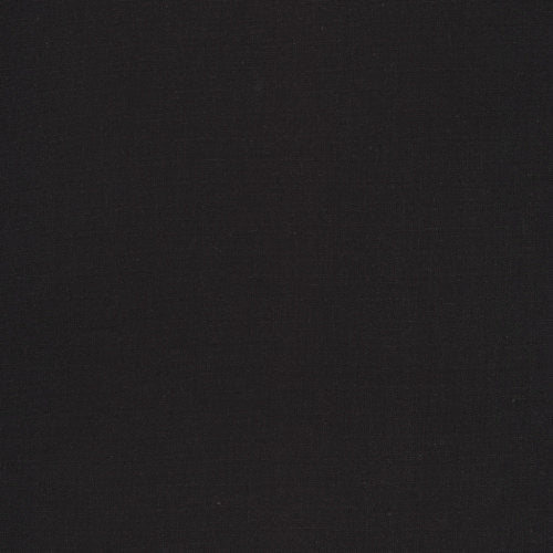 Solid Midnight Black Broadcloth