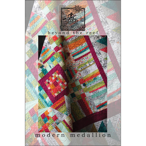 Beyond the Reef Modern Medallion Quilt Pattern