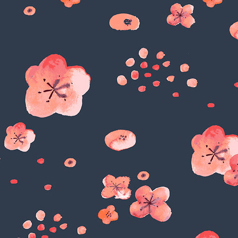 Cherry Blossoms Dusk Poplin