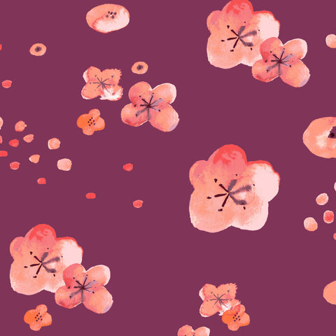 Cherry Blossoms Poplin