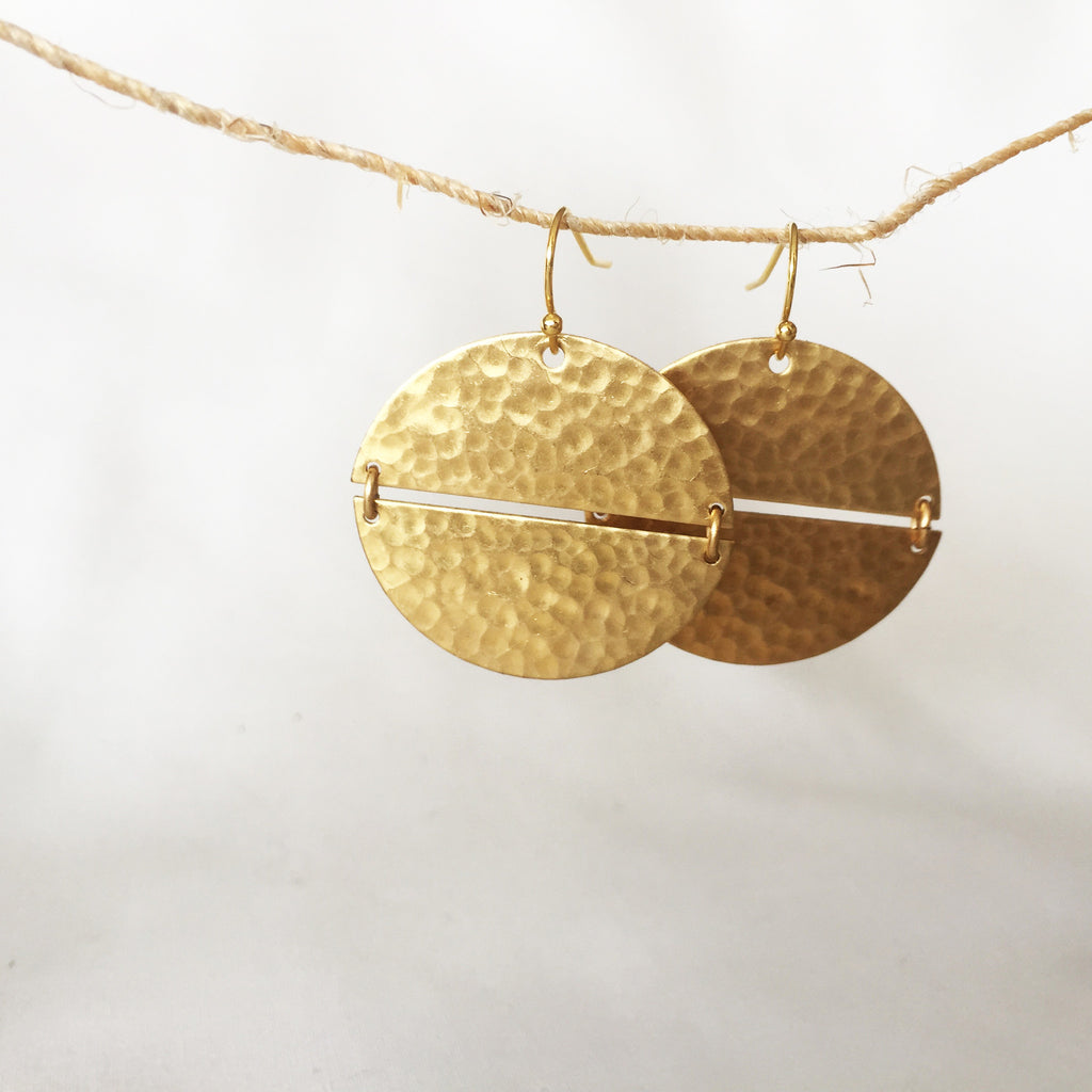 Lunar Phases Earrings by Larissa Loden