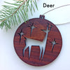 Mid-Century Wood Holiday Ornaments
