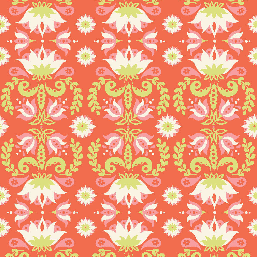 Groovy Lotus Organic Knit Fabric by Monaluna