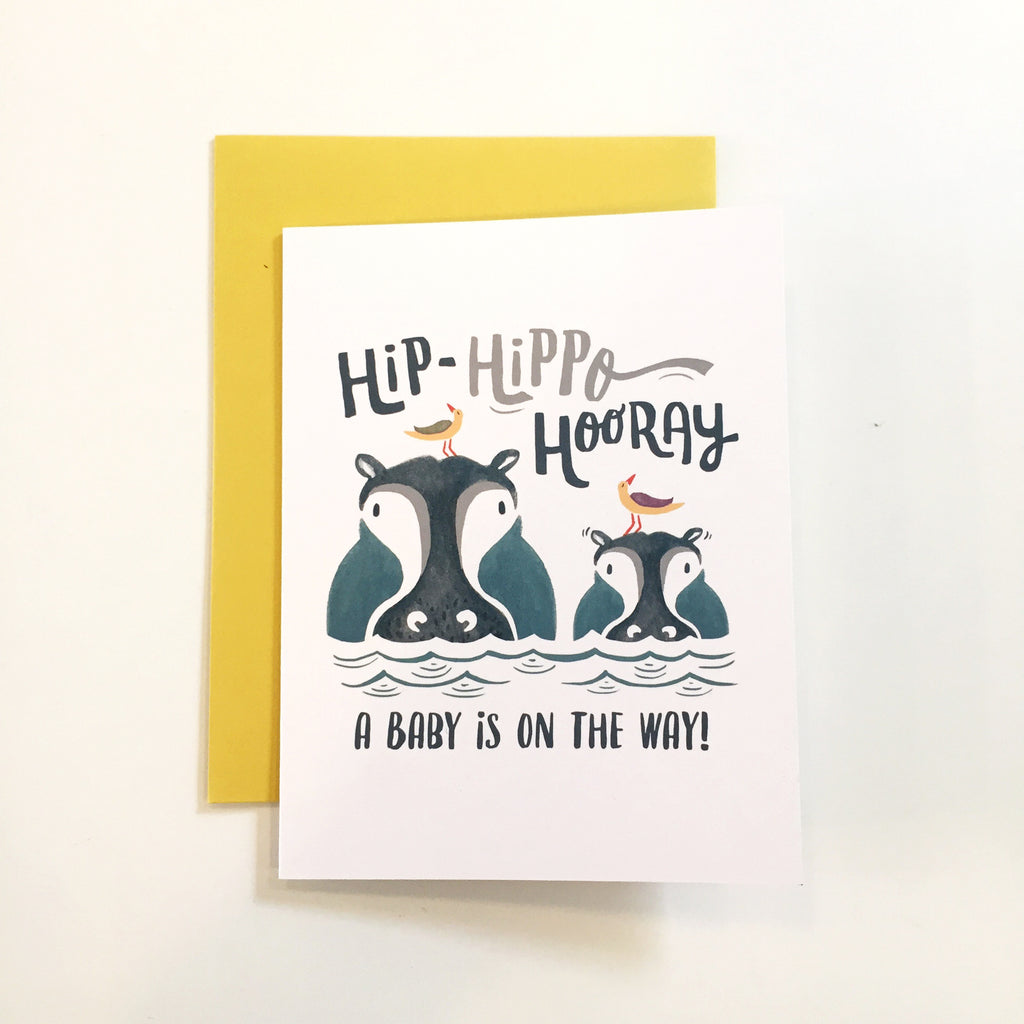Congratulations Card- Hip-Hippo Hooray