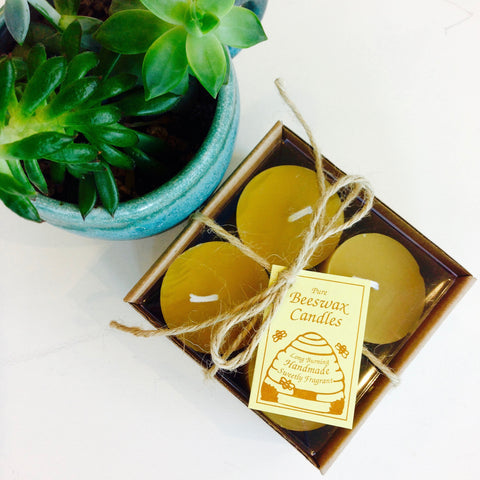 Pure Beeswax Votive Set