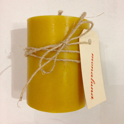 Pure Beeswax Pillar Candle