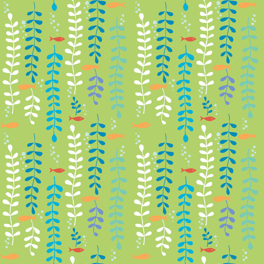Kelp Forest Organic Fabric by Monaluna