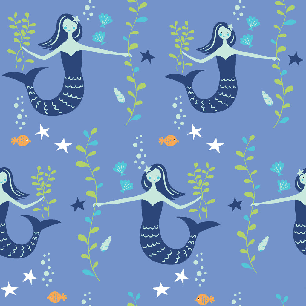 Little Mermaid Organic Fabric by Monaluna