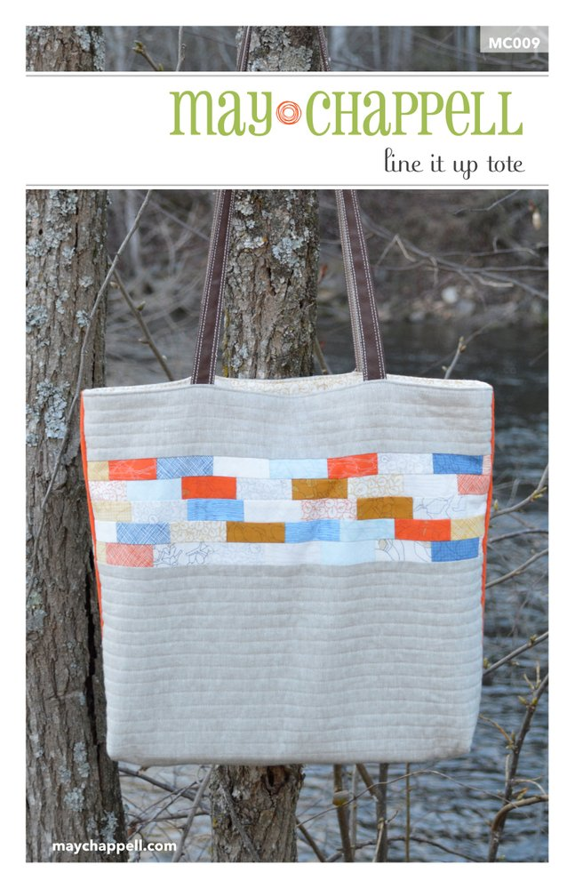Line It Up Tote Pattern by May Chappell