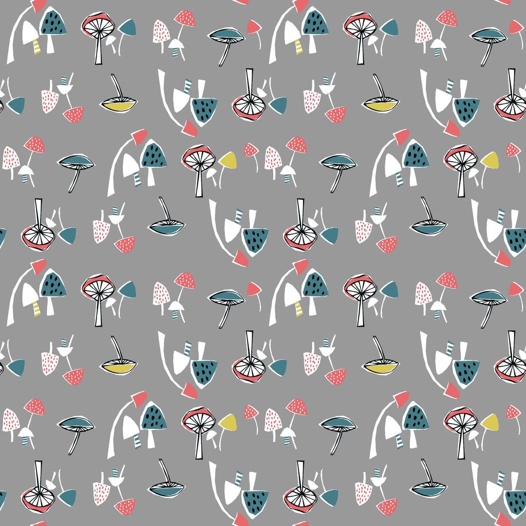 Mushrooms Organic Fabric by Monaluna