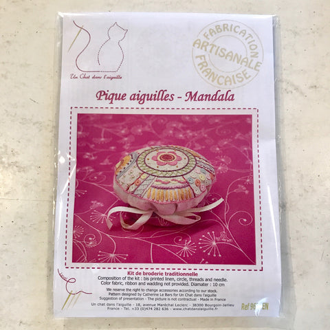 French Embroidery Kit - Mandala Pincushion