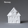 Little Porcelain House Ornaments by Poast