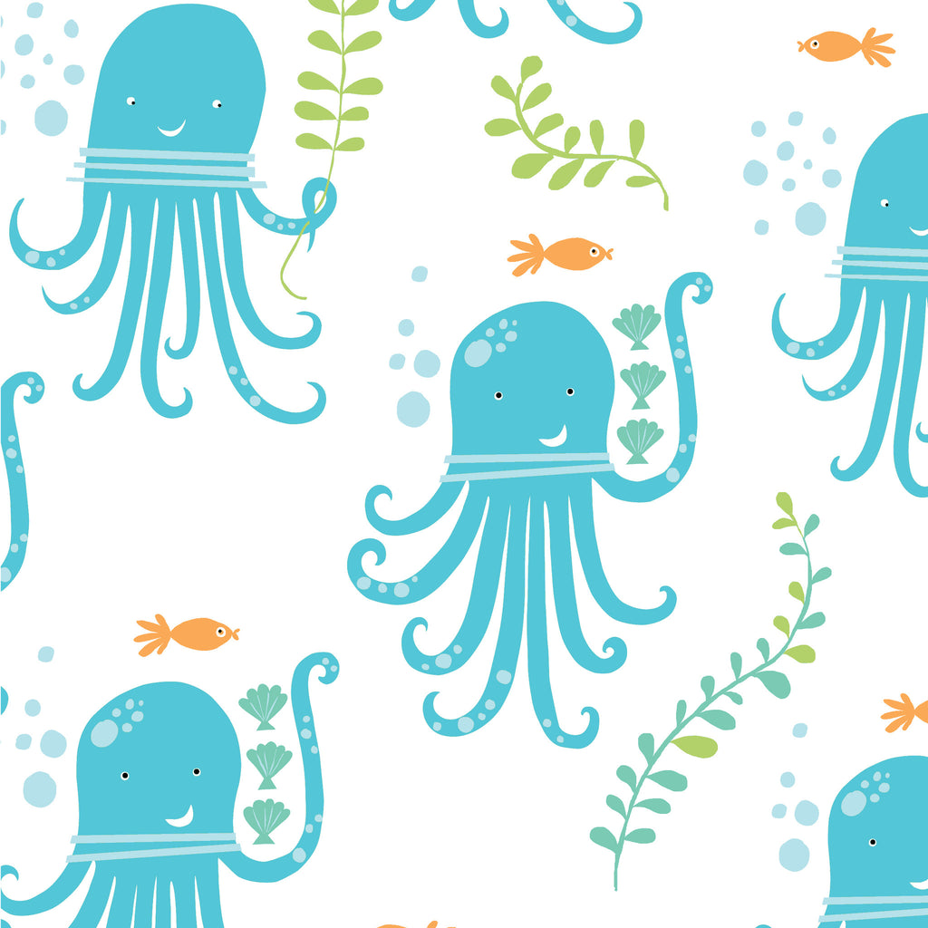 Octopus Party Organic Fabric by Monaluna