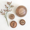 Buttons - 4 Styles in Hand-Carved Olive Wood