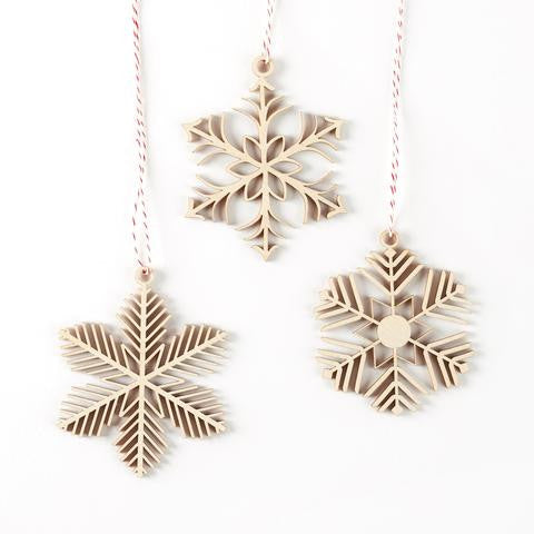 Lasercut Birch Ornaments