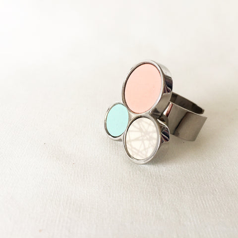 Pastel Light Triple Ring by Sägen