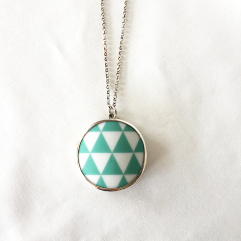 Harlequin Aqua Necklace by Sägen