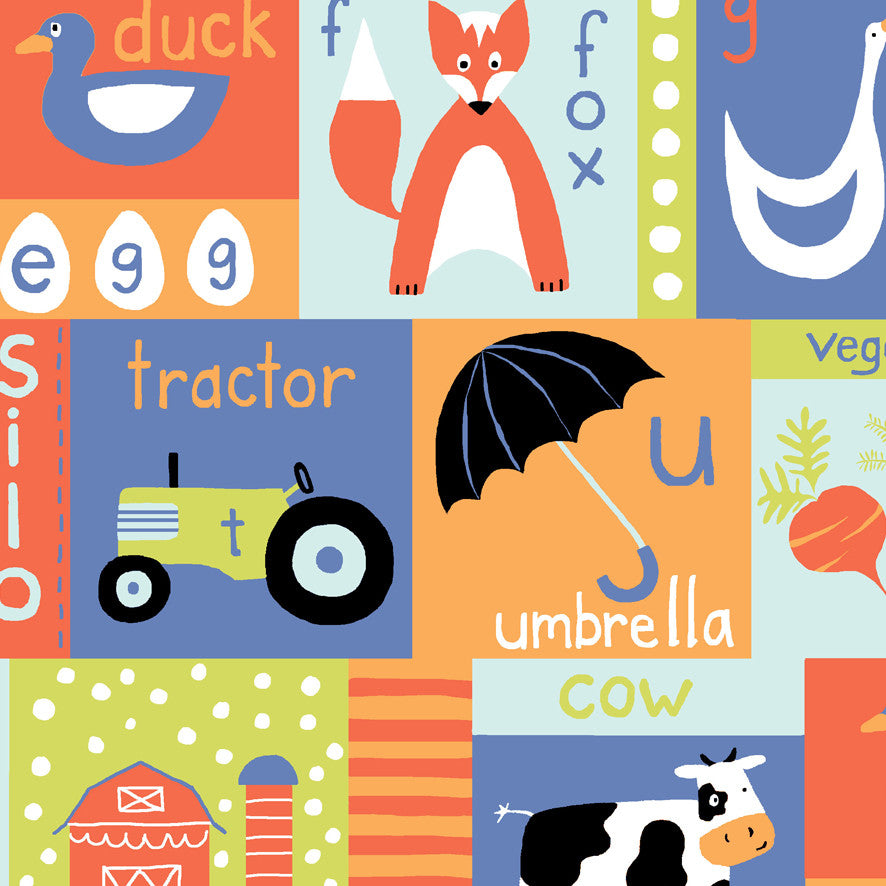 Apple Barn Cow Organic Fabric by Monaluna
