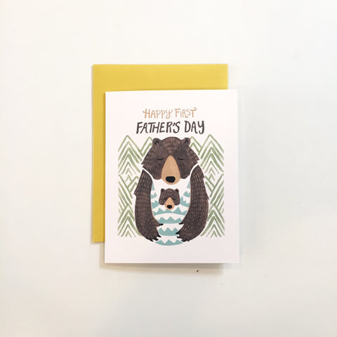 First Father's Day Card- Bear Hug