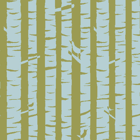 Birches Organic Fabric by Monaluna