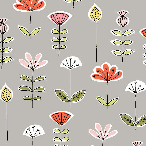 Bouquet Organic Fabric by Monaluna
