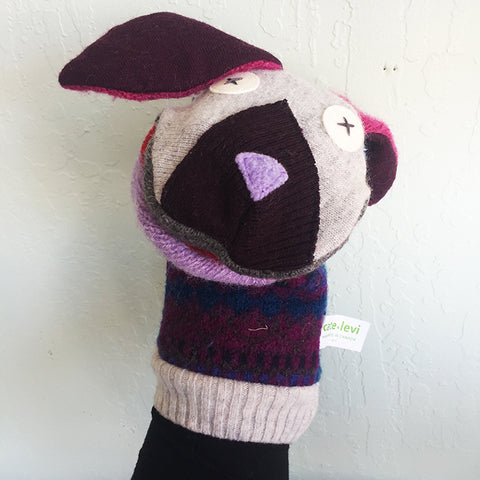 Reclaimed Wool Hand Puppet