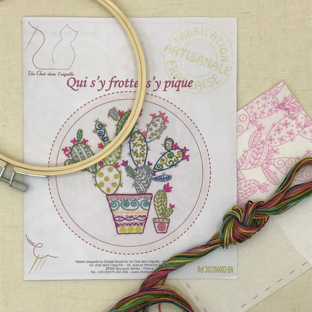 French Embroidery Kit - Cactus