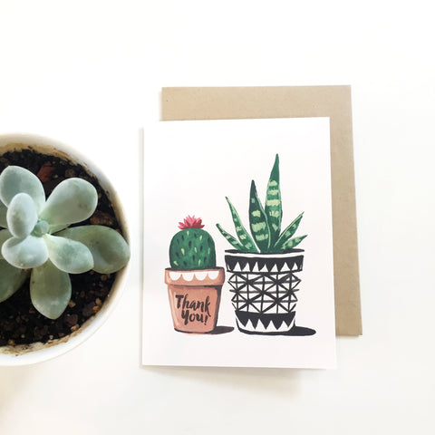Thank You Card - Succulents