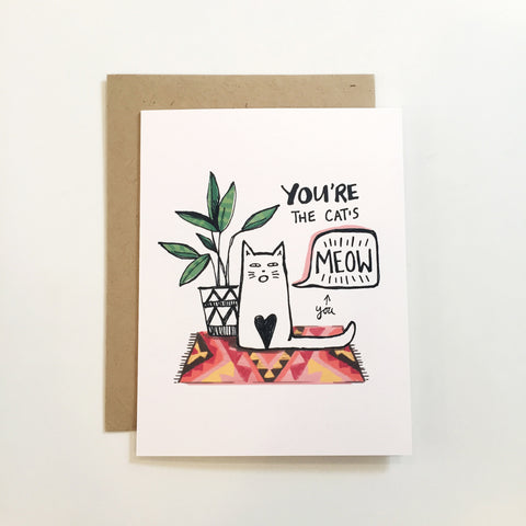 You're The Cat's MEOW- Card