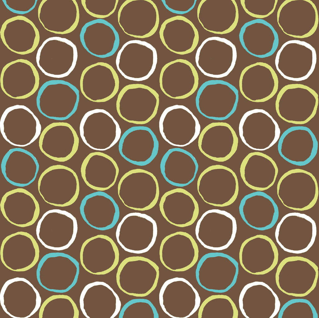 Monaco Circles in Teal Poplin