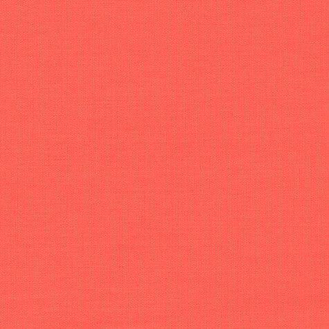 Coral Red Solid Organic Fabric by Monaluna