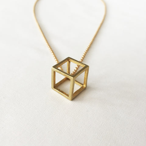 Mini Pirouette Necklace in Gold by Larissa Loden